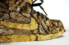 Un modo nuovo e divertente per dare un volto green alle vostre scarpe. Che ne dite? L'idea è della creative designer Christophe Guinet. www.mostrartigianato.it