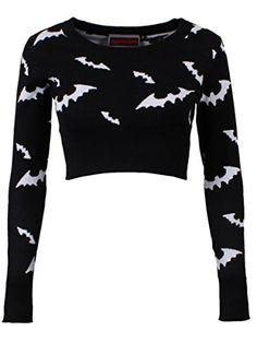 Jawbreaker Women's White Bats Crop Sweatshirt Black Grindstore http://www.amazon.com/dp/B00QDXX7DU/ref=cm_sw_r_pi_dp_gyW1ub1MEJCHT