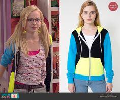 Maddie's colorblock hoodie on Liv and Maddie.  Outfit Details: http://wornontv.net/44229/ #LivandMaddie