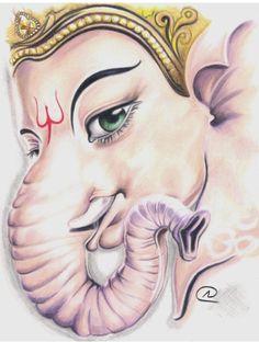 ganesheverywhere: tattoo image of Lord Ganesha Ganesha Sketch, Ganesha Drawing, Ganesha Tattoo, Lord Ganesha Paintings, Ganesha Art, Krishna Art, Sri Ganesh, Ganesha Pictures, Ganesh Images