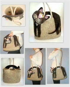 Details about Women Handbag Pretty Cat Shoulder Bags Large Tote Purse Shopper Messenger Bag Cat Bag, Bags 2017, Bag Packaging, Large Bags, Large Tote, Diy Bags, Wet Felting, Knitted Bags, Casual Bags