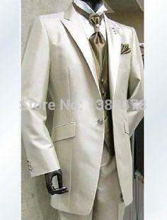 2016 Suits New style Groom Tuxedos Groomsmen Best Man Men Wedding Suits Prom/Formal/Bridegroom Suit (Jacket+Pants+Vest+Tie) #Affiliate