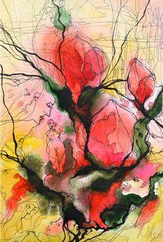 "Saatchi Art Artist: Boicu Marinela; Paper 2012 Painting ""trouble love"""