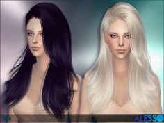 Sims 4 CC's - The Best: Hair by Alesso