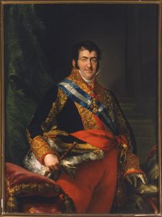 von Spanien King Ferdinand VII of Spain Roi Ferdinand VII d'Espagne Luis de la Cruz y Ríos. Fernando Vii, Royal Queen, Ferdinand, Romanticism, Queen Victoria, King, Portrait, Paintings, Academia