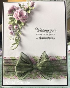 Ideas Birthday Card Ideas For Women Flowers Layout Sympathy Cards, Greeting Cards, Homemade Birthday Cards, Homemade Cards, Tattered Lace Cards, Wedding Cards Handmade, Engagement Cards, Tissue Paper Flowers, Easel Cards