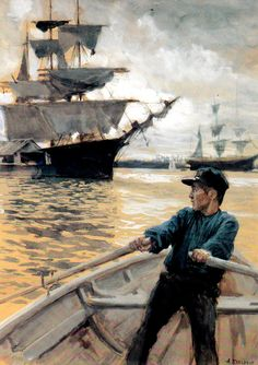Albert Edelfelt Great Paintings, Sailing Ships, Scandinavian, Scene, Fantasy, Fine Art, Photo And Video, Classic, Illustration