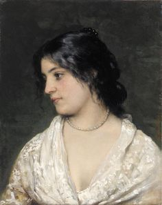 Eugene de Blaas - The Pearl Necklace