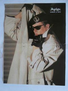 Simon Le Bon Mini Poster from Greek Magazines clippings 1970s 1990s | eBay