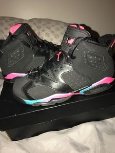 online store 14a1f 997fb ...  fashion  clothing  shoes  accessories  kidsclothingshoesaccs   boysshoes (ebay link). Girls Air Jordan 6 Retro Black Pink - Size 5.5Y  Grade School (kids
