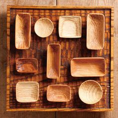 Wooden dishes/tray