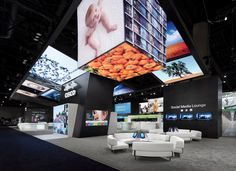 Videos, animations, and LED screens speak volumes for Cisco Systems Inc. Exhibition Stand Design, Exhibition Space, Museum Exhibition, Design Awards, Event Design, Fabric Structure, Fabric Display, Trade Show, Cisco Systems