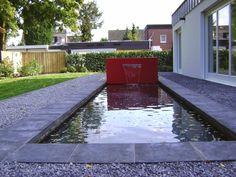 Wasserelemente by ADEZZ planters & Natural Mirrors, Garden Fountains, Decoration Design, Brick Wall, Water Features, Flower Pots, Planters, Sidewalk, Steel