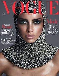 Adriana Lima by Mert & Marcus on the cover of Vogue Paris November 2014
