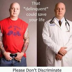 don't discriminate your tattooed professionals or military....there's too many of us that you couldn't live without.