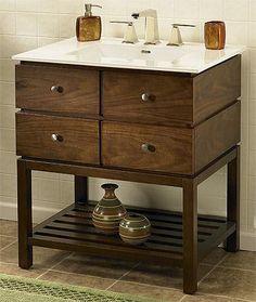 Windwood Traditional Single Sink Bathroom Vanity by Fairmont Designs Discount Bathroom Hello! Here we have great photo about discou. Vanity Sink, 30 Inch Bathroom Vanity, Pretty Bathrooms, Bathroom Fixtures, Bathroom Cabinetry, Glass Bathroom, Bathroom Vanity, Bathroom Vanities For Sale, Discount Bathroom Vanities