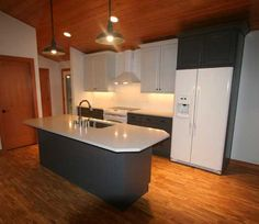 Kitchen remodel with island in Coventry RI Designed by Coventry
