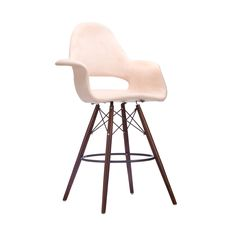 Take iconic mid-century modern design to new heights. The Tête-à-Tête Barstool offers stylish modern seating for your counter-height needs. Accentuated by the wooden legs, this chair fits in at the kit...  Find the Tête-à-Tête Barstool, as seen in the Free Shipping Day: Seating Collection at http://dotandbo.com/collections/free-shipping-day-seating?utm_source=pinterest&utm_medium=organic&db_sku=DBI1267-BGE