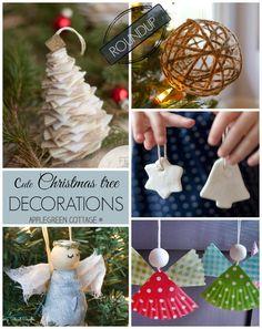 10 cutest Christmas tree ORNAMENTS to make this Christmas!