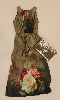 """"""".....macro fiori...."""" abito lungo ANONYME, borsa LIU-JO"""