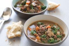Hearty Lentil and Sausage Soup // For when it gets a little cooler! #recipes