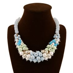 Glass Seed #Beads #necklace, with #Acrylic, more colors for choice.
