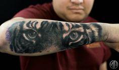 #tiger #tigertattoo #blacktattoo #tattoo #seattle #seattletattoo #nickharttattoo #fkirons #spektraedgex #eternalink