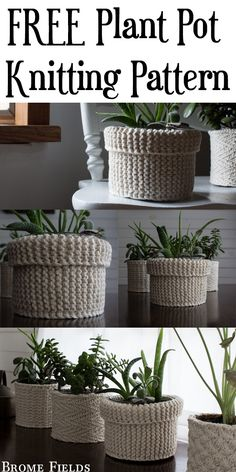 {FREE} Garter Stitch Plant Cozy Knitting Pattern