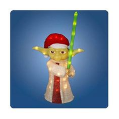 Star Wars Santa Yoda 28-Inch Tinsel Display