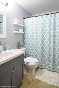Light Bright Guest Bathroom Makeover Such An Incredible Transformation Of A Small E From Dwelling In Hiness
