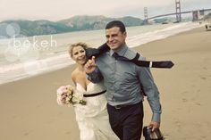 Baker Beach Wedding Photograph.