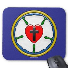 Make your desk your unique space with a new Christian mouse pad from Zazzle! Luther Rose, Mousepad, Christian, Make It Yourself, Quilts, Unique, Design, Art, Art Background