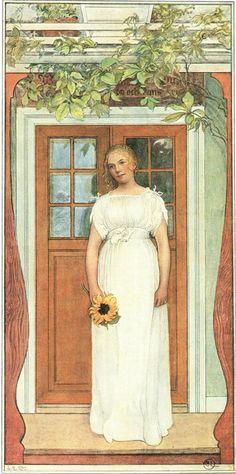 Carl Larsson (1853-1919) - Eighteen Years Old!
