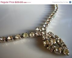 Hey, I found this really awesome Etsy listing at https://www.etsy.com/listing/43972362/sale-rhinestone-necklace-vintage-art