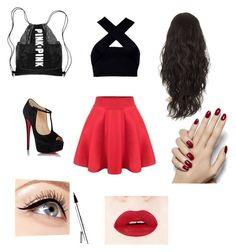 """Untitled #5"" by nbacovska on Polyvore featuring Motel, Christian Louboutin and Luminess Air"