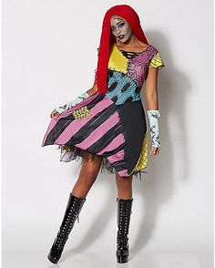 Sallys dress reference from nightmare before christmas no encontr adult sassy sally costume the nightmare before christmas spencers solutioingenieria Gallery