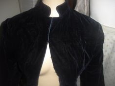 Antique Victorian blue velvet long coat or dress with bustle area and back silk bow in original condition from the true Victorian/ Edwardian age c. 1890. A great steam punk coat. neckline| eBay!