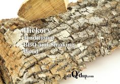 Hickory is the most commonly used hardwood for BBQ and smoking. It is often called the 'King' of BBQ wood. Hickory is closely related to Oklahoma, Eastern North Carolina, and Texas BBQ. Smoking Wood, Smoking Meat, Bbq Wood, Hickory Wood, Texas Bbq, Smoke Grill, Kitchen Equipment, Stoves, Outdoor Cooking
