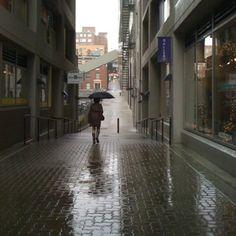 Walking in the Seattle rain