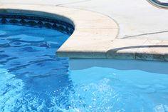 Travertine stone pool coping