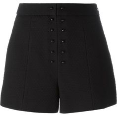 Proenza Schouler textured jacquard shorts (144.375 HUF) ❤ liked on Polyvore featuring shorts, pants, black, high-rise shorts, highwaist shorts, high waisted shorts, proenza schouler and high rise shorts