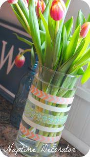 Easy Spring Washi Tape Vase :: Tutorial