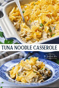 Classic Tuna Noodle Casserole Tuna Noodle Casserole Recipe, Dinner Casserole Recipes, Casserole Dishes, Dinner Recipes, Dinner Ideas, Lunch Ideas, Meal Ideas, Food Ideas, Tuna Recipes
