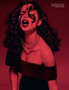 "LOVE Spring/Summer 2016 ""Hell Raiser"" Photographer: Sølve Sundsbø Stylist: Katie Grand Hair: Syd Hayes Make-up: Miranda Joyce Manicure: Chisato Yamamoto"