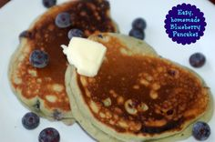 homemade blueberry pancakes #ad