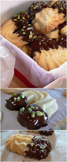 Viennese biscuits - Delicious Viennese egg-free butter biscuits and incredible goodness! very easy to prepare - Italian Pastries, Italian Desserts, Italian Recipes, Italian Dishes, Biscotti Cookies, Biscotti Recipe, Viennese Biscuits, Cookie Recipes, Dessert Recipes