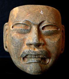 Olmèque - Masque de pierre.