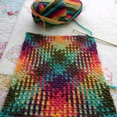 "crochet color pooling with yarnaway - Crocheting Atlas yarnaway: a crochet scrapbook: dive right in motleycraft-o-rama: ""From Yarnaway. Plaid Knitted Pattern 4 Source by How to Knit Plaid with Crochet – sibel duran – Join the world of pin Crochet Stitches Patterns, Stitch Patterns, Knitting Patterns, Beau Crochet, Crochet Motif, Crochet Scarves, Crochet Yarn, Crochet Crafts, Crochet Projects"
