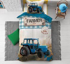 Met dit katoenen kinderdekbedovertrek breng je kleur naar de slaapkamer. De grote tractor staat je al op te wachten om een ritje mee te gaan maken in je dromen. Tractors, Monster Trucks, Website, Shop, Store