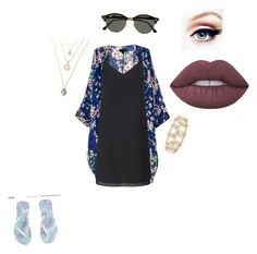 """""""Untitled #87"""" by h3llo6 on Polyvore featuring Miss Selfridge, Lime Crime, Lele Sadoughi and Ray-Ban"""